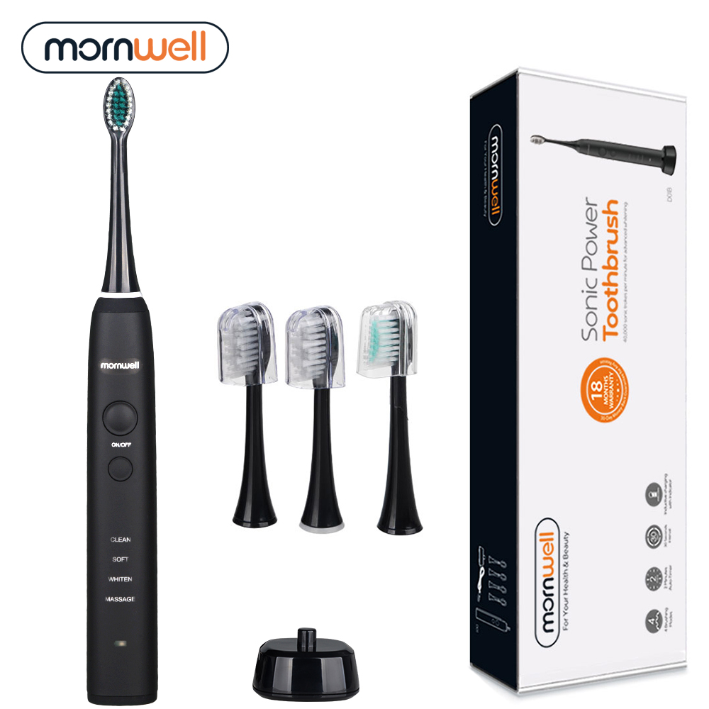 все цены на Sonic Electric Toothbrush Electric Toothbrush Rechargeable Ultimate Cleaning Whitening Advanced Safeguard Ultrasonic Tooth Brush онлайн