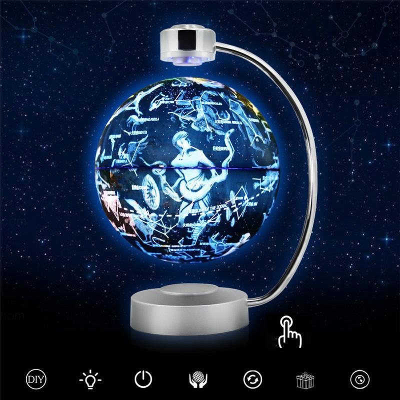 AUGKUN Inovador 8-polegada Rotação Luminosa Constelação Globo de Suspensão Magnética Globo Escritório Em Casa Decoração Enfeites