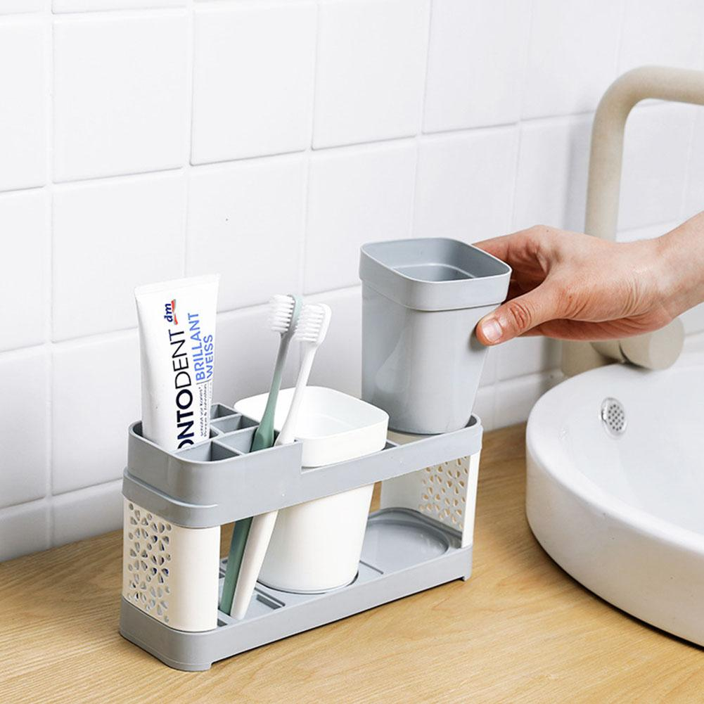 None Bathroom Wash Cup Holder Suits For Toothbrush Toothpaste Storage