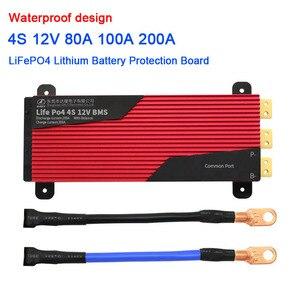 DYKB 4S 80A 100A 200A 12В LiFePO4 литиевая батарея Защитная плата высокого тока Ebike баланс 3,2 в 4 ячейки зарядное устройство PCB BMS