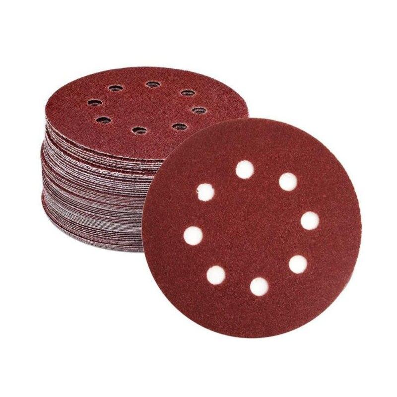Disco de Lixa de Óxido de Alumínio Migrando de Volta para Lixadeiras Grits Buracos 150 Milímetros Sandpapers 100 Pcs 6-polegada – 40-2000 8