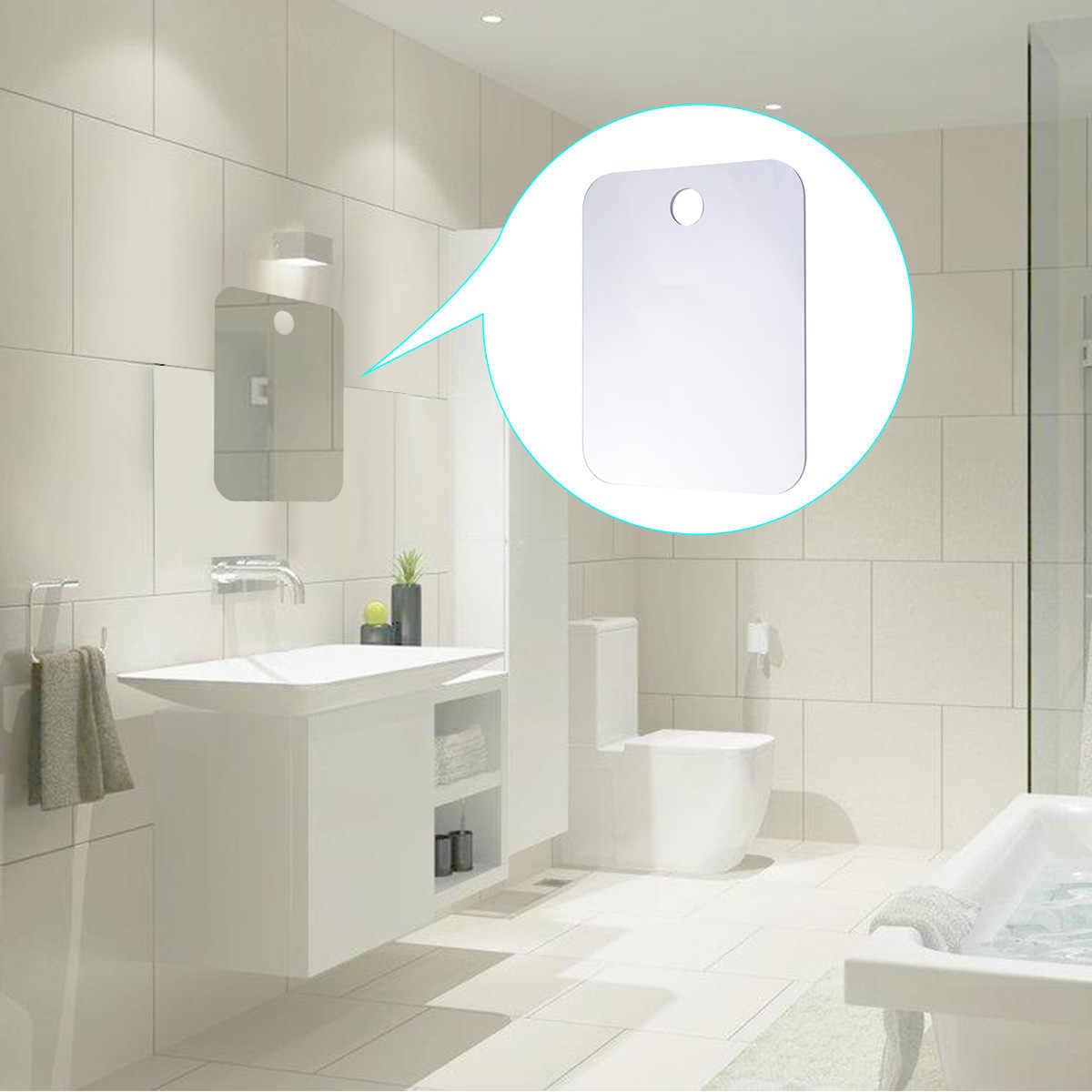 ... Anti-Fog Fogless Shower Bath Mirror Shaving Mirror Easy to Clean  Bathroom Washroom Hanging Up ...