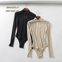 BRADELY MICHELLE Sexy slim long sleeve tight rompers bodysuits women club outwear jumpsuits for women 2019 ladies tops