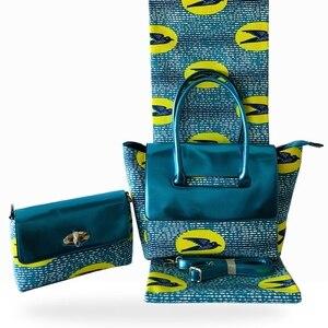 Afrykańska tradycja torba Ankara i tkanina bawełniana na imprezę modna ręcznie robiona torebka z ładną woskową tkaniną do szycia