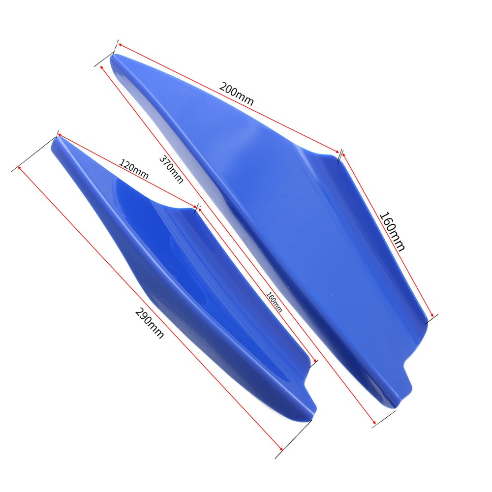 Mayitr 4Pcs Sport Car Front Bumper Splitters Fin Spoiler Canards Bumper Lip Diffuser Splitter Hot Sales in Bumpers from Automobiles Motorcycles