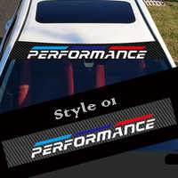2 Styles Car Sticker Front Windshield Sticker Performance Carbon Fiber Personalized Car Styling for BMW e46 e90 e60 Stickers