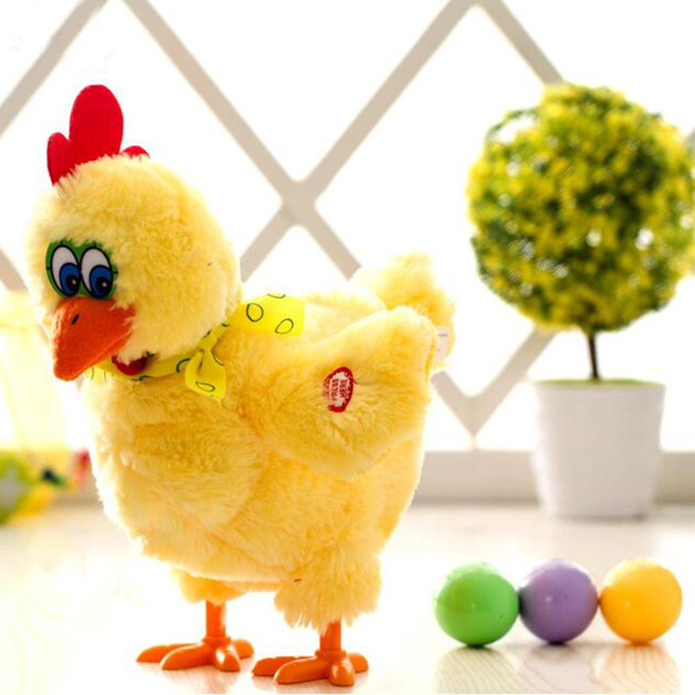 1pcs 30cm Funny Doll Raw Chicken Hens Electric Plush Toy Singing Dancing Chicken Doll with Three Eggs for Boys Girls image