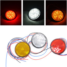 2pcs 5W 12V Universal 24LED Motorcycle Round Reflector Tail Brake Turn Signal Light Lamp Bulbs LED ATV 3 Colors