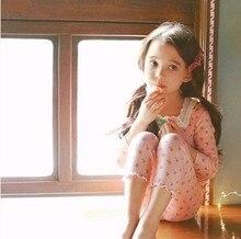 Купить с кэшбэком 2019 children's home service suit cotton boy girl autumn long pants warm clothes baby pajamas set