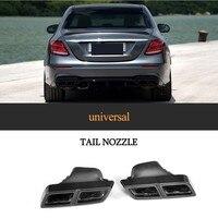 Light 100% Dry Carbon Fiber Exhaust tip Universal End Muffler for Mercedes Benz C E GL CLK CLS Class C63 C43 CL65 E63 G55 AMG|Mufflers| |  -