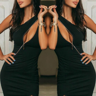 Black Cut-Away Bodycon Dress