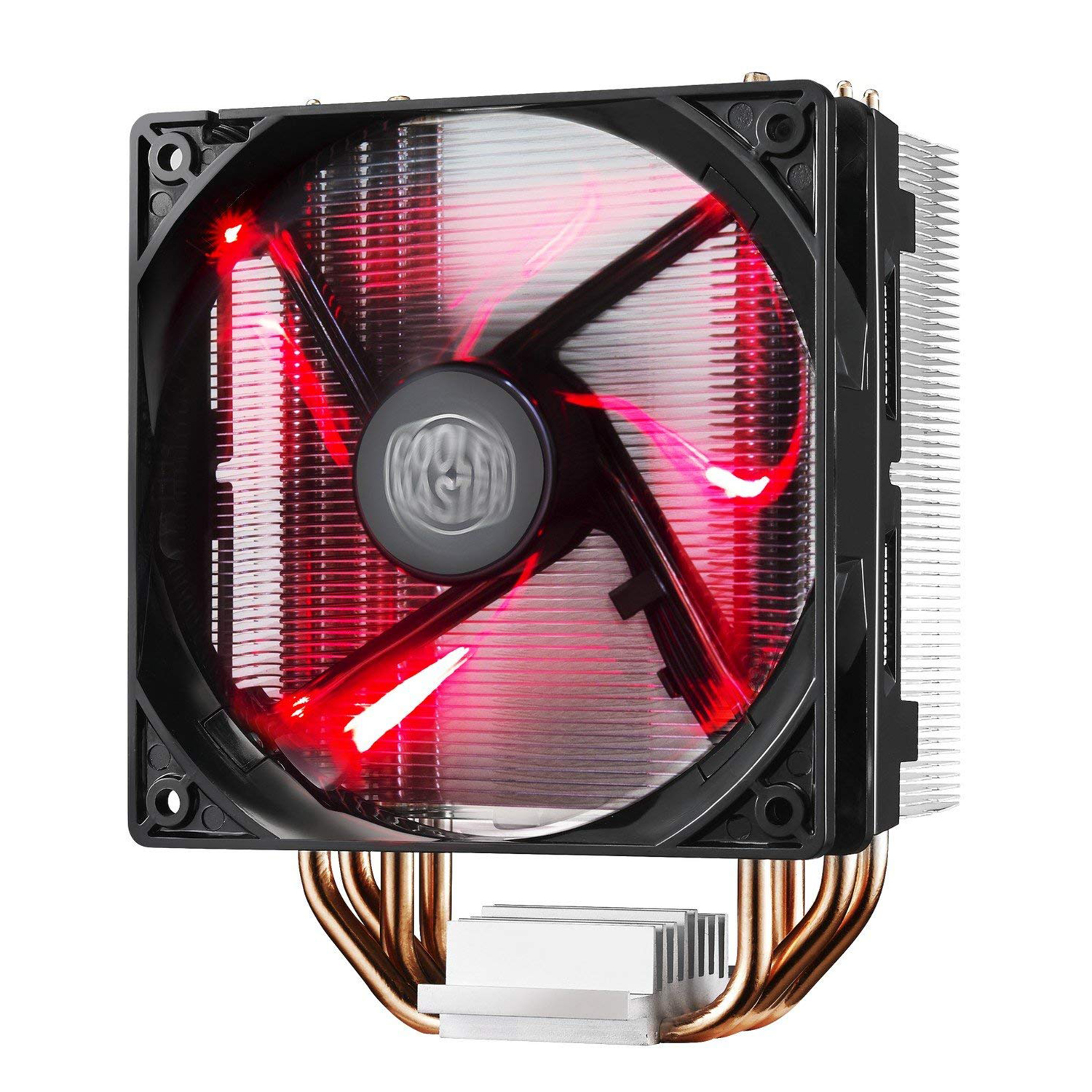 COOLER MASTER DC12V T400i LED CPU Cooler with PWM Fan, Four Direct Contact Heat Pipes, Unique Blade Design and Red LEDs