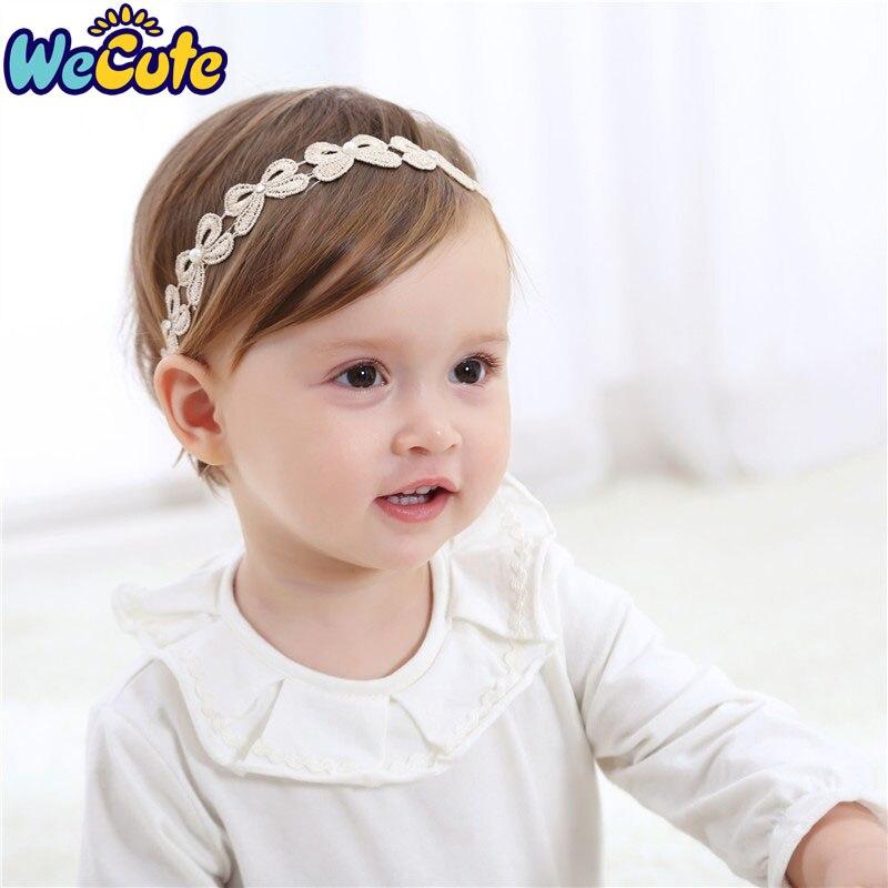 Girls Baby Newborn Toddler Lace Bow Nylon Headband Hair Accessories White