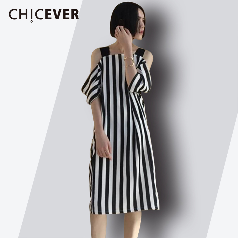 80da95bb2721 Vestido sexi para mujer con hombros descubiertos con tiras finas a rayas  talla grande 2018 vestidos de verano ropa a la moda nuevo