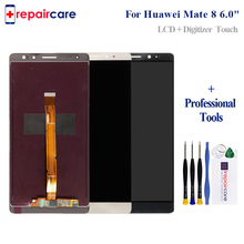 цена на 1920x1080 For HUAWEI Mate 8 LCD Display Touch Screen with Frame Digitizer Assembly 6.0 For HUAWEI Mate 8 LCD