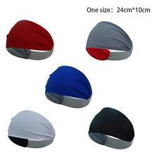Fashion Yoga Hair Ribbon Antiperspirant Non Slip Sweatbands Headbands Sports Running Moisture Wicking Fitness Headband Unisex