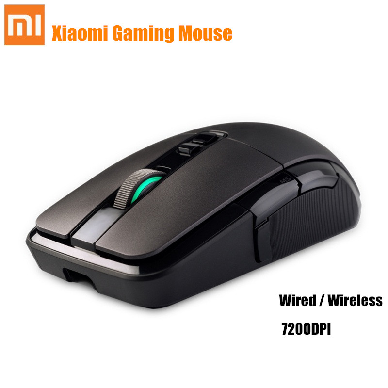 Original Xiaomi souris de jeu sans fil/filaire 7200 DPI RGB rétro-éclairage 2.4 GHz sans fil USB filaire Rechargeable souris de jeu pour PC ordinateur portable