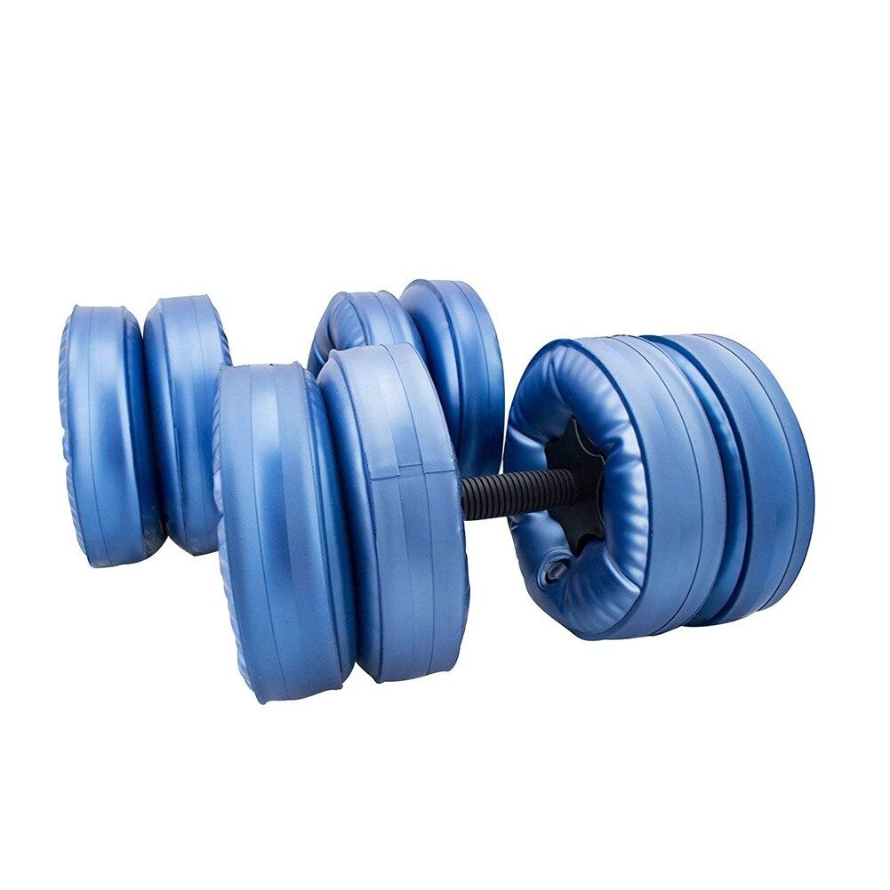 Équipement d'entraînement réglable d'haltères de voyage remplis d'eau pour l'entraînement de force de musculation