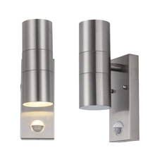 Outdoor IP65 Waterproof Up Down  LED Wall Light AC 90-260V stainless steel Cylinder Modern Style Dual Head E27 Lamp