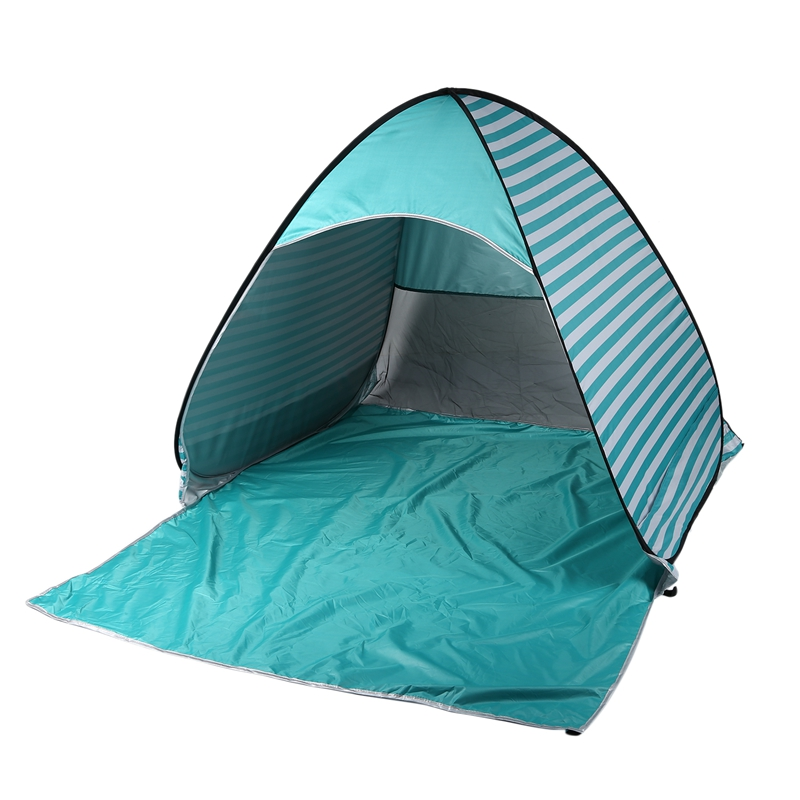 Hot Outdoor 2 Person Beach Camping Tent Anti-Uv Portable Quick Sunshade Shelter Canopy Stripe Automatic Tent