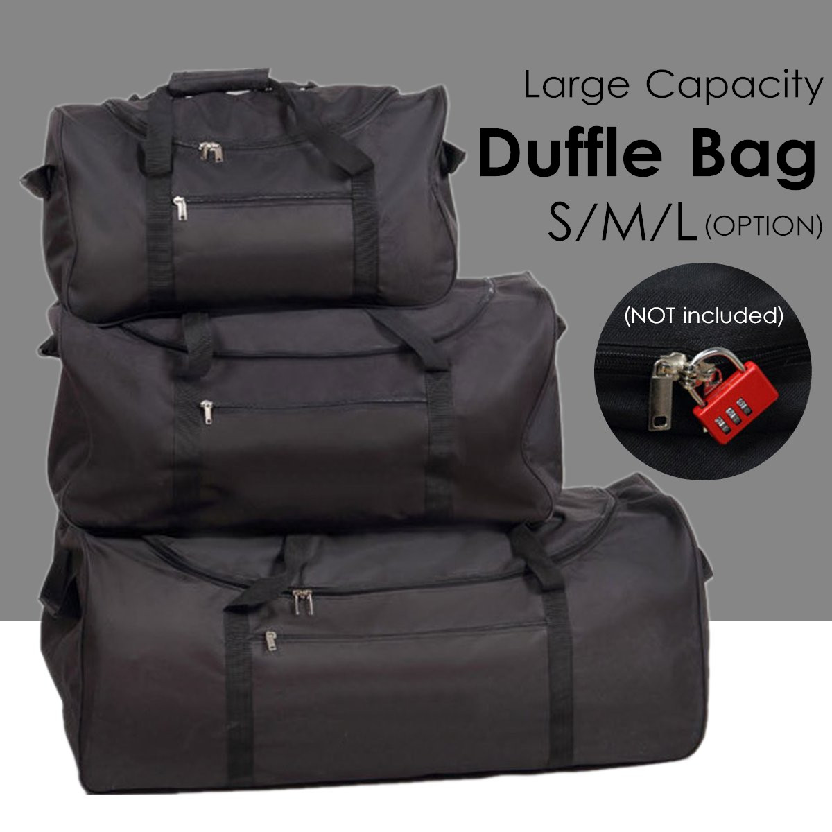 Outdoor Camping Waterproof Oxford Travel Large Duffle Bags Foldable Luggage Handbag Woman Men Backpack Storage Pouch Tote S/M/LOutdoor Camping Waterproof Oxford Travel Large Duffle Bags Foldable Luggage Handbag Woman Men Backpack Storage Pouch Tote S/M/L