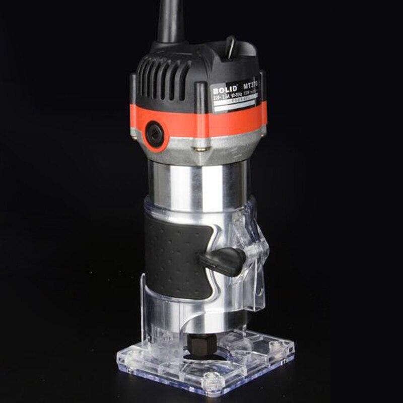 כלים יד 220V 35000Rpm 530W חשמלי יד גוזם עץ Edge 1/4 כלים נתב אינץ ווד נתב גוזם עבור כלי קידוח נגרות / EU (3)