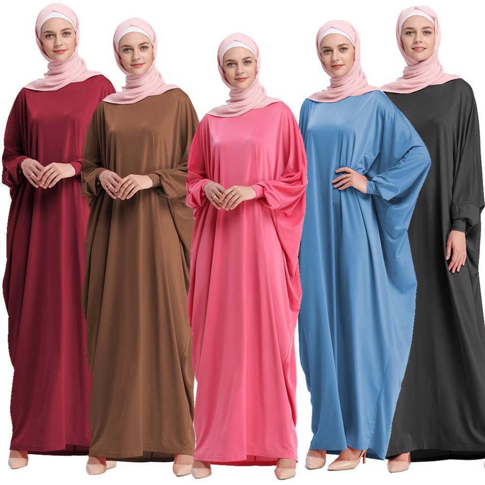 Muslim Women Dress Middle East Islamic Gown Dubai Robe Bat Sleeve Abaya Jilbab Maxi Fashion Loose Kaftan Dress Middle East Gown gown