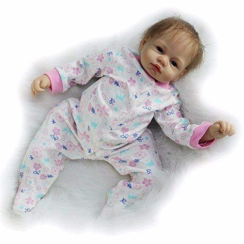 Bebe Reborn 22 inch Soft Silicone Vinyl Dolls 55cm Reborn Baby Doll Newborn Lifelike Bebe Reborn Dolls Birthday Gift in Dolls from Toys Hobbies