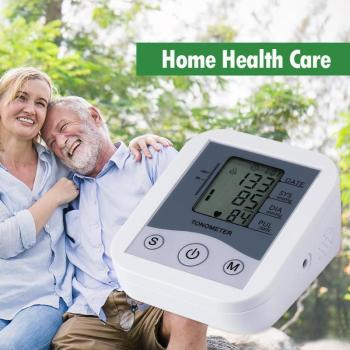1PC Blood Pressure Monitor Upper Arm Blood Pressure Meter LCD Digital Measuring Arterial Pressure Tool Home Health Care 2