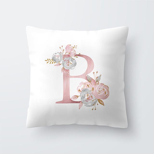 Letter Pillow Cover – 45 x 45cm Pillowcase