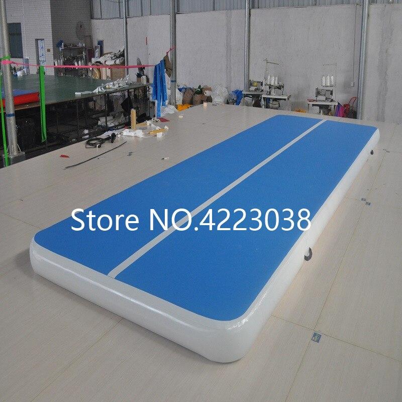 Livraison gratuite 4*2 m tapis de Yoga Gym Air Mat matelas gonflable, piste d'air gonflable piste de dégringolade pour la gymnastique