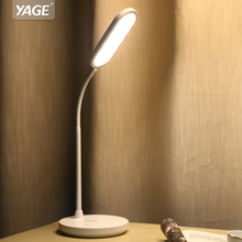YAGE Led Table Lamp 1200mAh Battery USB Desk Lamp Stepless Dimming Touch Desk Light Hose Table Light Night Light Lampe YG-T405