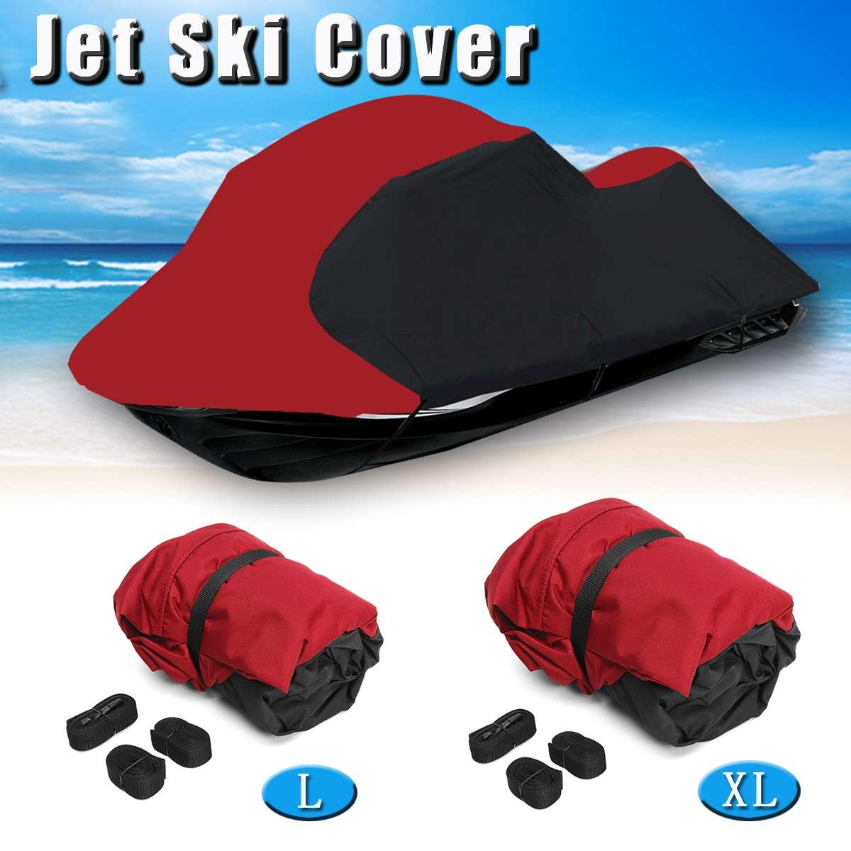 Housse de bateau imperméable teinte en Polyester 600D pour Jet Ski universel 3 personnes PWC 294-342 cm et longueur 348-356 cm avec sac
