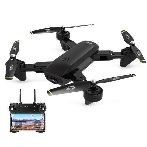 RCtown DM107S Dual Cameras Foldable RC Drone High speed Support VR UAV RTF 2 0MP Wide