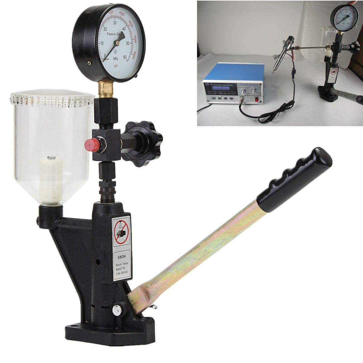 Calibrateur d'injecteur de carburant jauge à double échelle Max 60 Mpa buse testeur de Pop-pression 0-400 BAR outil de Rail commun métal de Diagnostic