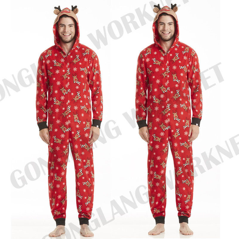 3ade44038a CANIS Family Matching Christmas Pajamas Clothes Set Mom Dad Kids Deer  Sleepwear Nightwear Zip Familia Pijama Baby Rompers Winter-in Matching  Family Outfits ...