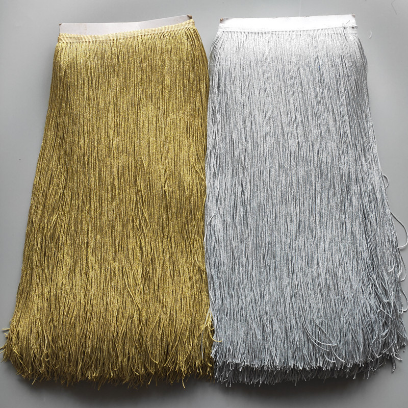 YOYUE 5 yards/lot 50cm Long Lace Fringe Trim Tassel Trimming For Diy Latin Dress Stage Clothes Accessories Ribbon