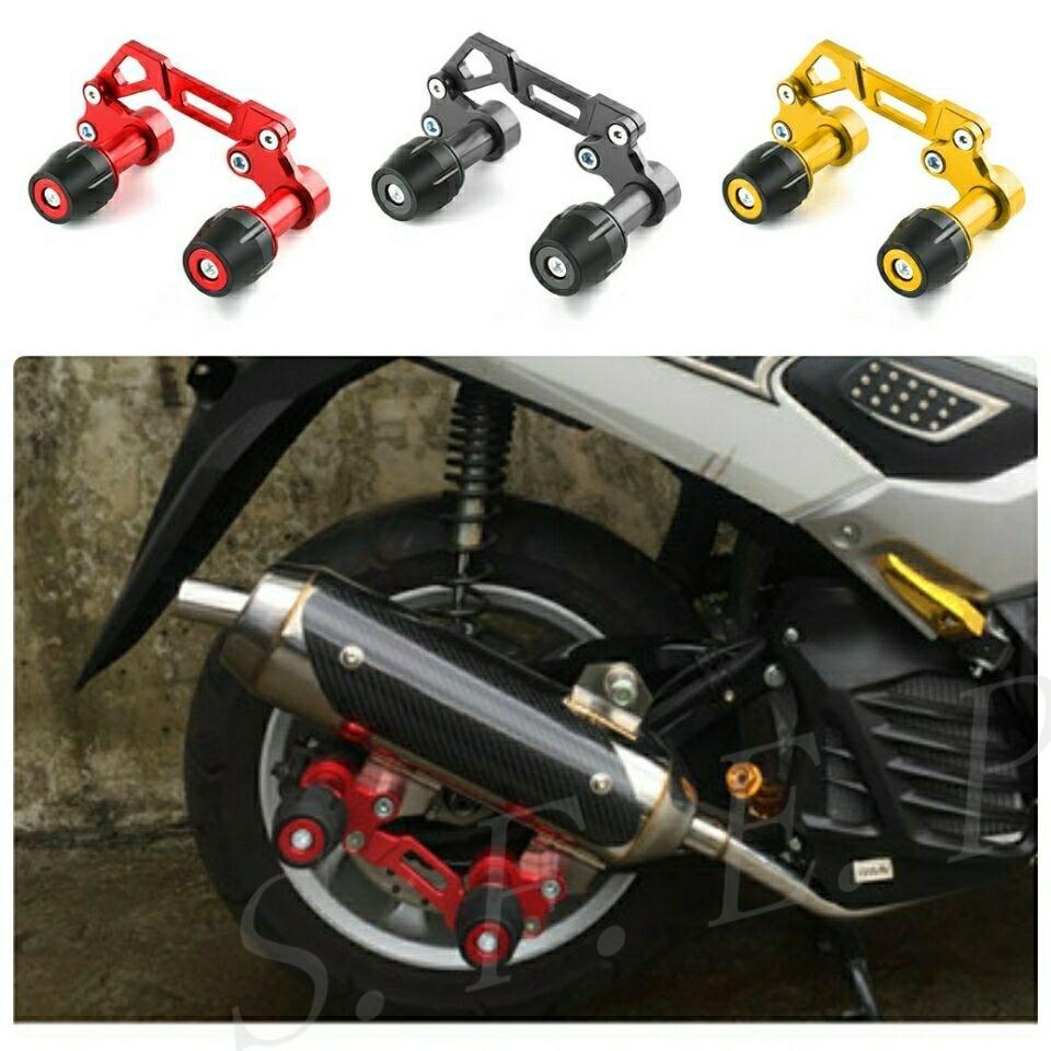 CNC système d'échappement réglable dispositif de Protection Anti-chute pour Yamaha XMAX300 NMAX155 NVX155 AEROX155 et pour Honda PCX150 PCX125