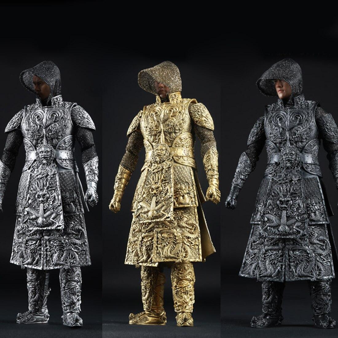 1:6 древний дракон шаблон Armour Barde одежда для 12 Мужской солдат Модель Фигурки Игрушка аксессуар серебро