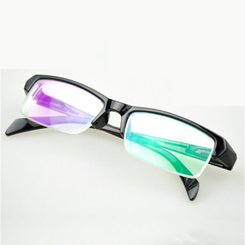 Half Frame Women Myopia Glasses Resin Black Frams Prescription Eyeglasses Men Minus Lens  -1.0 -1.5 -2.0 -2.5 -3.0 -3.5 -4.0