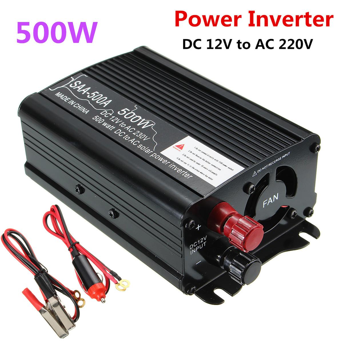 Tragbare Inverter 12 v 220 v 500 watt <font><b>Auto</b></font> Modifizierte Sinus Welle Spannung Transformator Power Inverter Konverter <font><b>Auto</b></font> Ladung USB image