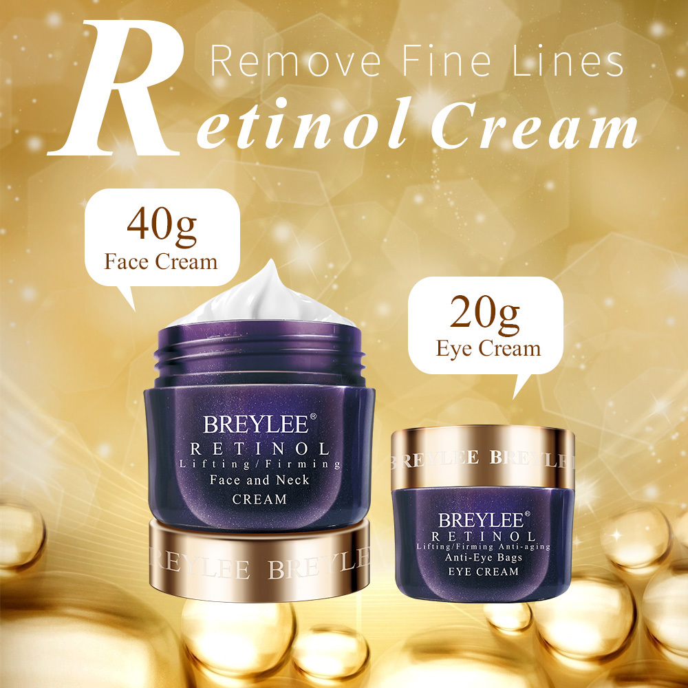 Breylee Retinol Face Cream Eye Cream Lifting firming Anti aging Fade Wrinkles Fine Lines Facial Skin Care Ageless Remove Eye Bag in Facial Self Tanners Bronzers from Beauty Health