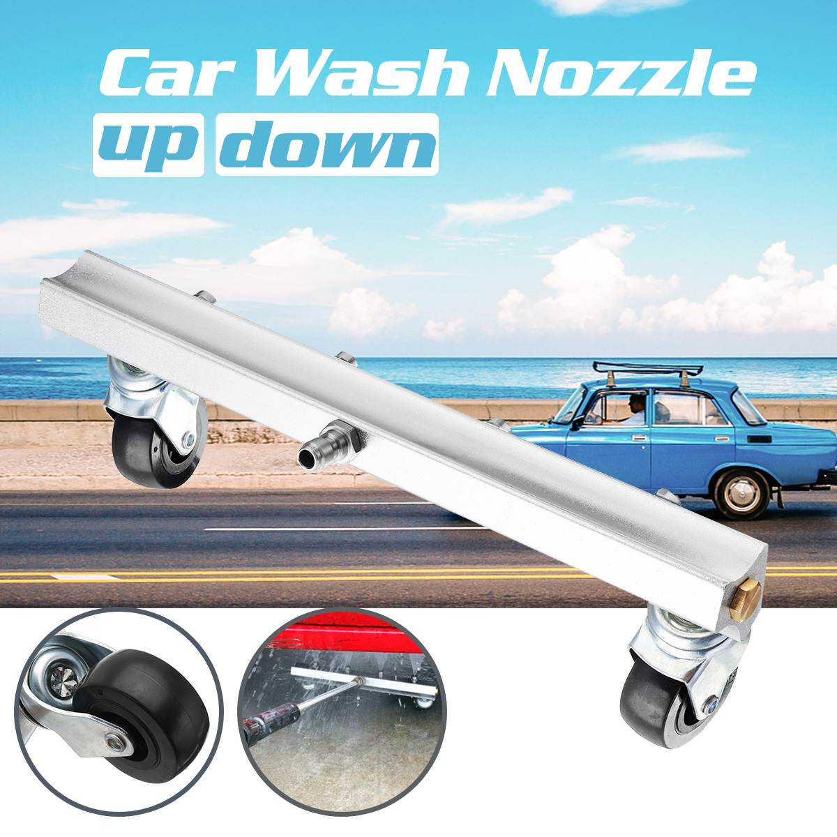 4 Nozzle Car Chassis Water Spray Ground Factory Kitchen Brush Clean Tool 1 4 Car Washing