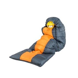Image 5 - Wind Tour Herfst Winter Envelop Hooded Outdoor Reizen Camping Water Proof Dikke 1.3Kg Slaapzak Thermische Volwassen Bed lui Tas
