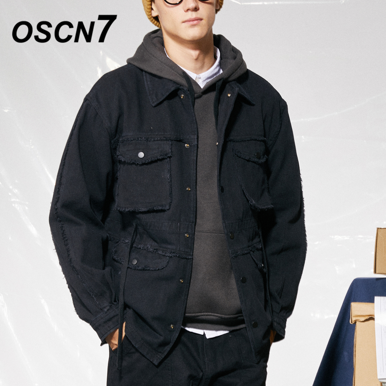 Disegno Gli Autunno Allentata Harajuku Streetwear Pianura Casual Nero Nera  Giapponesi Uomini Oscn7 Hip Retro Tasca ... 8f7ab6884ab