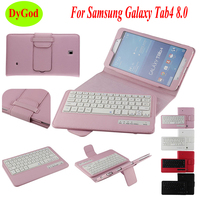 Wireless Bluetooth Keyboard Case For Samsung Galaxy Tab 4 T330 T331 T333 T335 8.0'' Tablet Protective Case PU Leather Cover