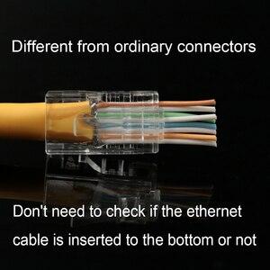Image 2 - Xintylink EZ rj45 connettore cat6 rg rj 45 spina del cavo ethernet utp 8P8C rg45 gatto 6 presa di rete lan schermato modulare conector