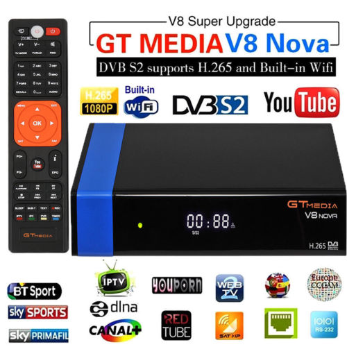Gtmedia V8 Nova (nueva V8 Super) DVB S2 Freesat satélite construido Wifi Full HD 1080 P-in Figuras y miniaturas from Hogar y Mascotas    1