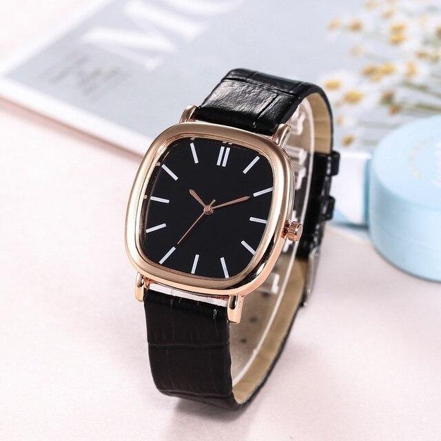 2019 Fashion Watches Women Men Lovers Watch couple Leather Quartz Wristwatch Female Male Clocks Relogio Feminino Free shipping