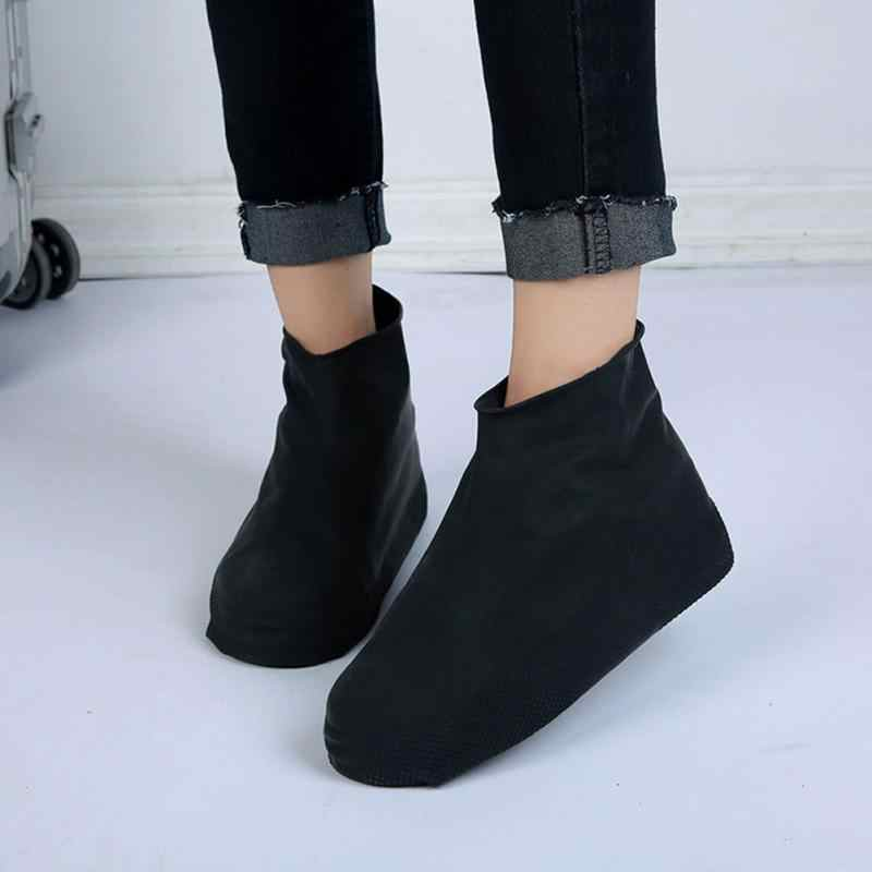 Su geçirmez Yağmur Yeniden Kullanılabilir Ayakkabı Kapakları Tüm Mevsim kaymaz kauçuk yağmur botu Galoş Erkekler ve Kadın Ayakkabı Aksesuarları